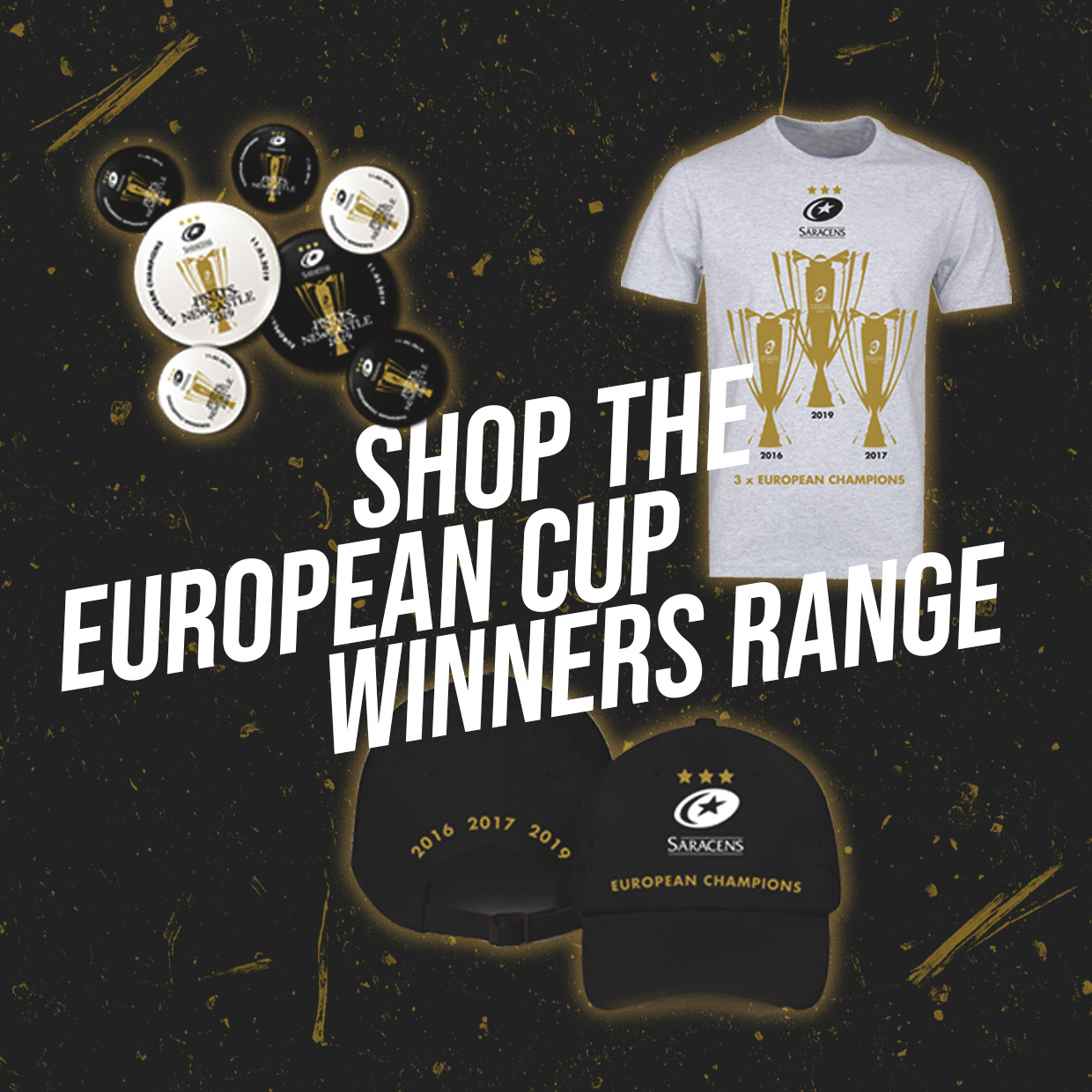 81d4765378a Saracens Champions Cup Winners Products - Pre Order Now! Home  Away  Third
