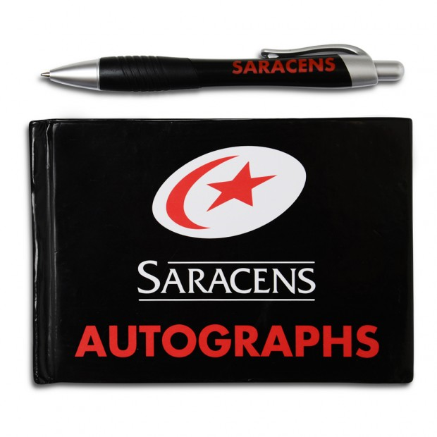Saracens Autograph Book and Pen