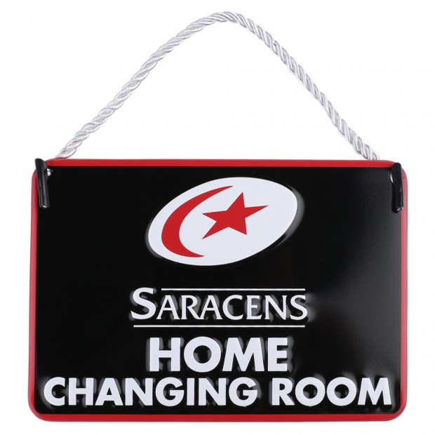 Saracens Home Changing Room Sign