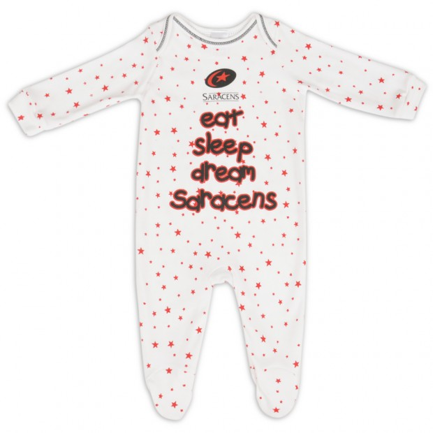 Saracens Eat Sleep Dream Sleepsuit