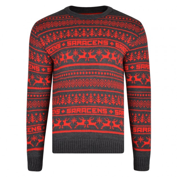 Saracens Junior Fairisle Christmas Jumper