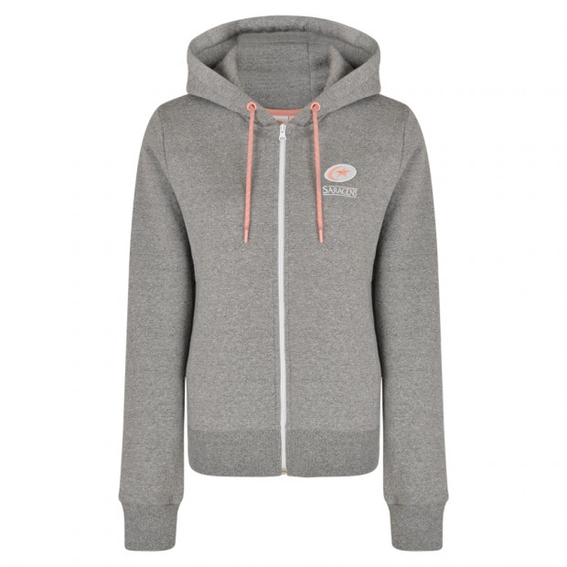 Saracens Womens Full Zip Hooded Sweat