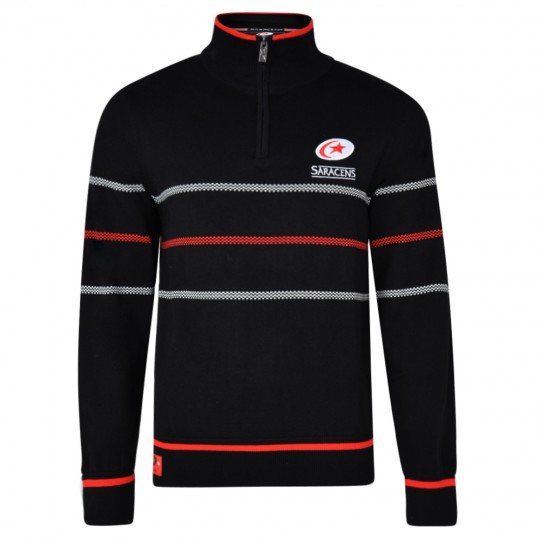 Saracens Junior 1/4 Zip Jumper