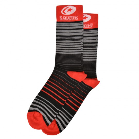 Saracens Mens 3 Pack Dress Socks