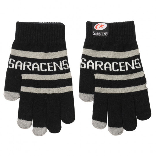 Saracens Stripe Kids Touchscreen Gloves