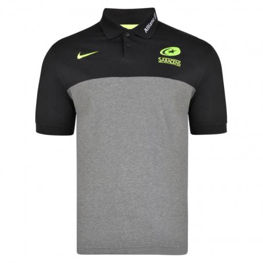 Saracens 19/20 Nike Polo - Grey