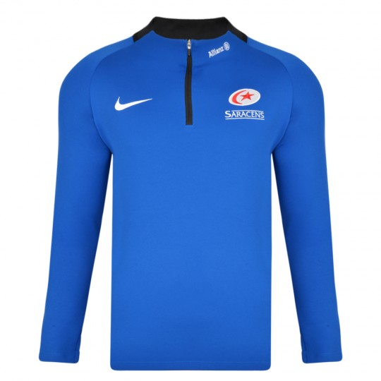 Saracens 19/20 Nike Junior Squad Drill Top - Blue
