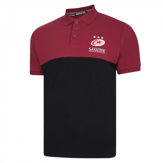 Saracens Two Tone Polo