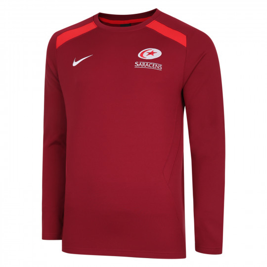 Saracens 20/21 Nike Junior Training Crew Midlayer