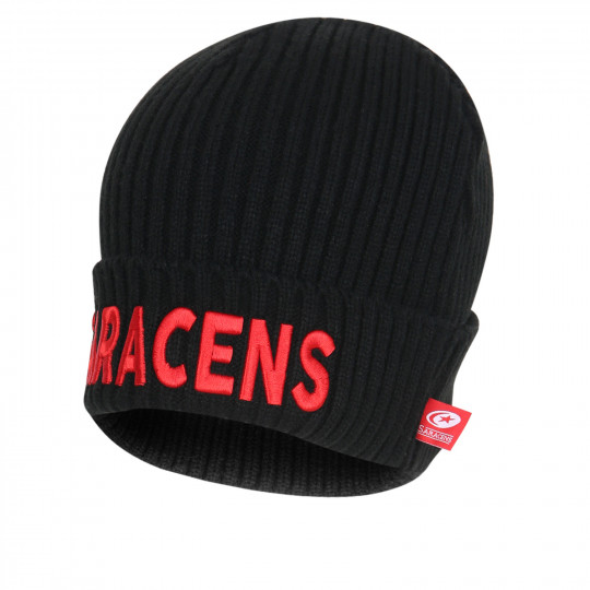 Saracens 20/21 Ribbed Text Beanie
