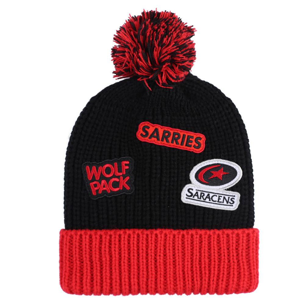 fe13c51f4da96 Saracens Junior Badge Bobble Hat