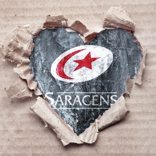 Saracens Ripped Heart Card