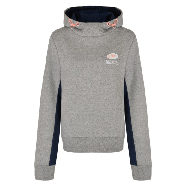 Saracens Womens Pocket Hooded Sweat