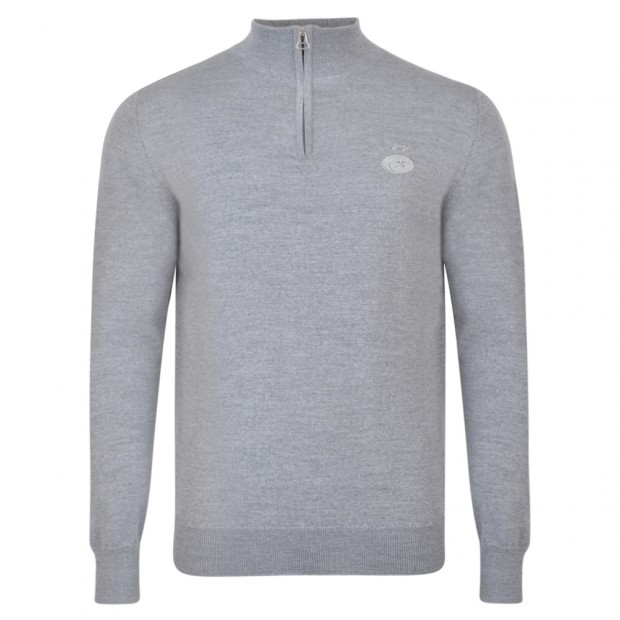 Saracens Merino Wool 1/4 Zip Sweater