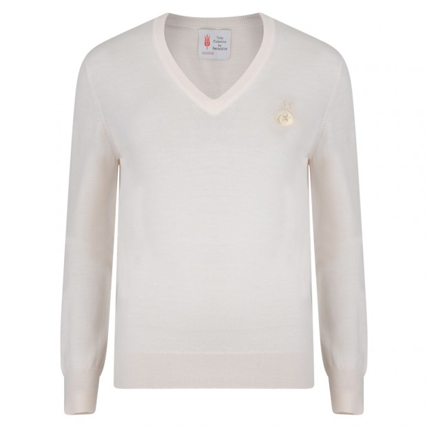Saracens Merino Wool Ladies VNeck Sweater
