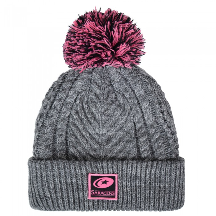 Saracens Ladies Bobble Beanie Hat