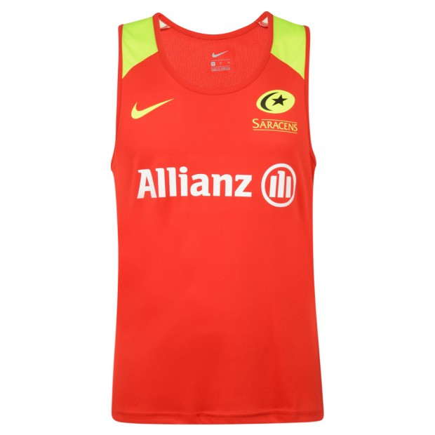 Saracens 19/20 Nike Training Singlet - Red