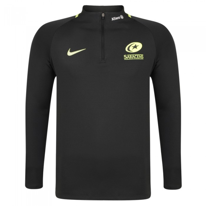 Saracens 19/20 Nike Squad Drill Top - Black