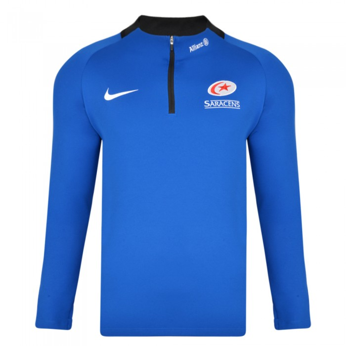 Saracens 19/20 Nike Squad Drill Top - Blue