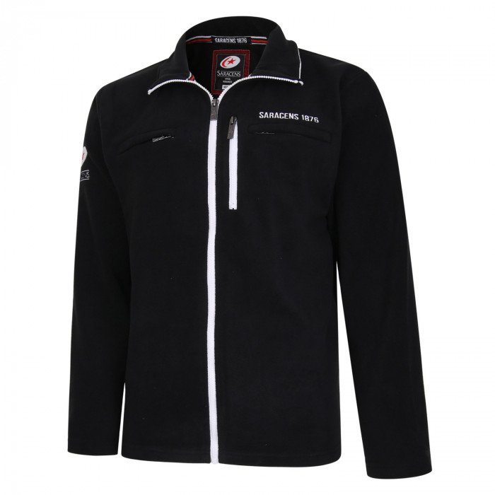 Saracens Kids Zip Pocket Fleece
