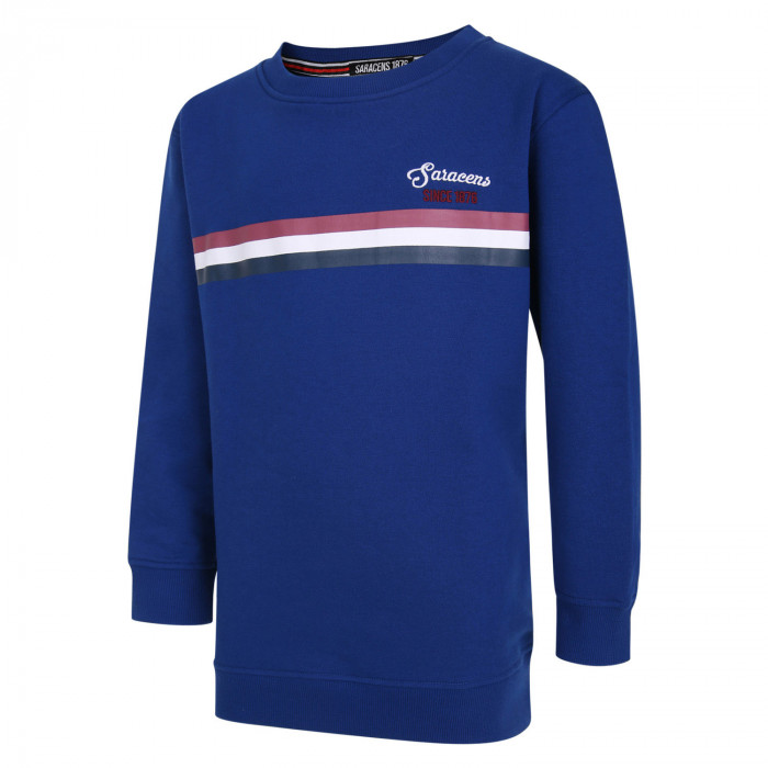 Saracens Kids Triple Stripe Sweater
